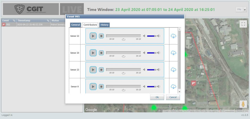 CGIT Software interface