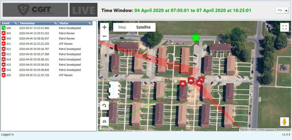 CGIT Software interface geolocation
